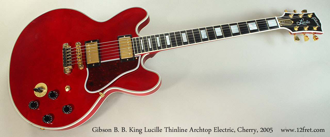 Gibson B. B. King Lucille Thinline Archtop Electric, Cherry, 2005 Full Front View