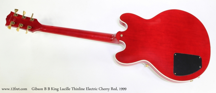 Gibson B B King Lucille Thinline Electric Cherry Red, 1999  Full Rear VIew
