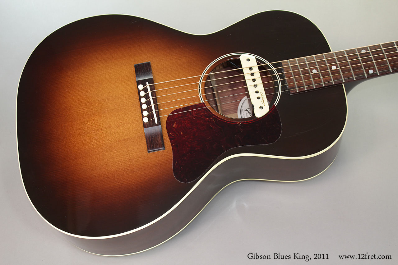 2011 gibson blues king acoustic guitar