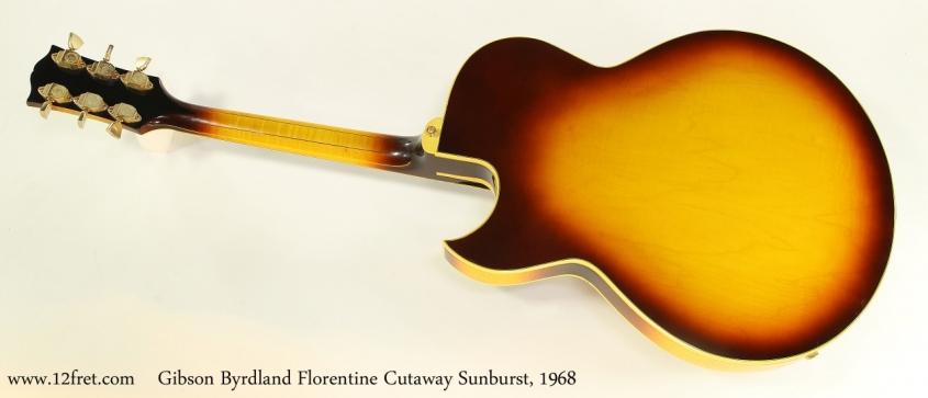 Gibson Byrdland Florentine Cutaway Sunburst, 1968   Full Rear View