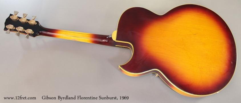 Gibson Byrdland Florentine Sunburst, 1969 full rear view
