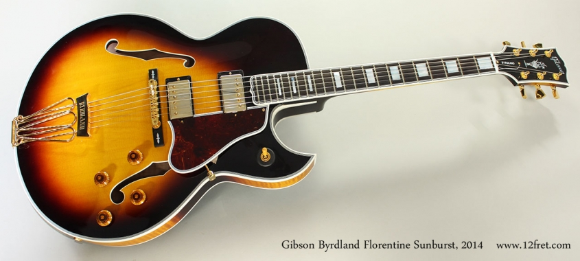 Gibson Byrdland Florentine Sunburst, 2014 Full Front View