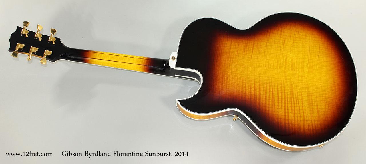 Gibson Byrdland Florentine Sunburst, 2014 Full Rear View