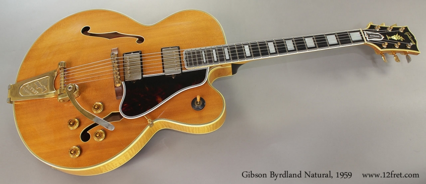 Gibson Byrdland Natural, 1959 Full Front View