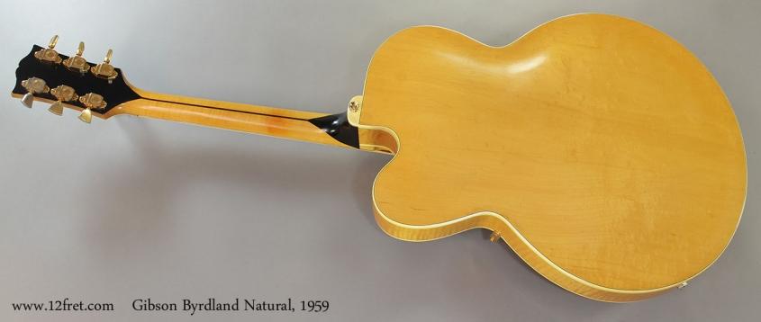 Gibson Byrdland Natural, 1959 Full Rear View