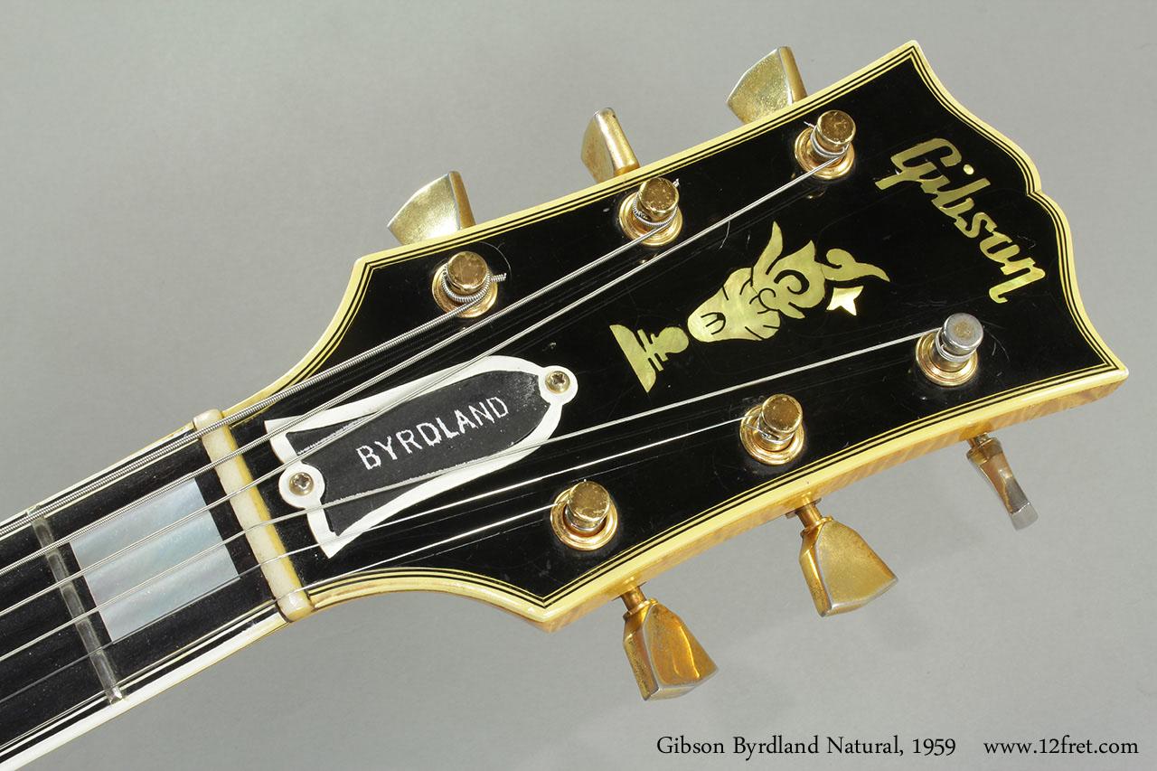 Gibson Byrdland Natural, 1959 Head Front