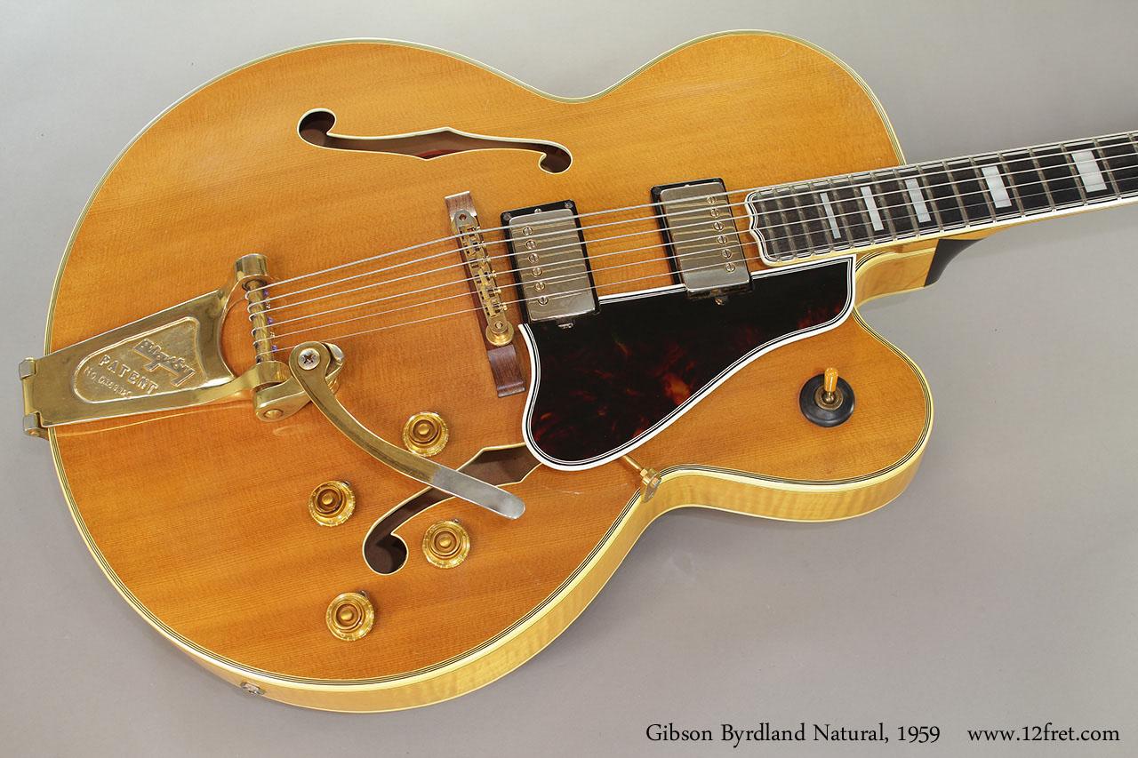 Gibson Byrdland Natural, 1959 Top