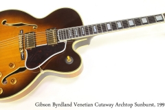 Gibson Byrdland Venetian Cutaway Archtop Sunburst, 1991 Full Front View