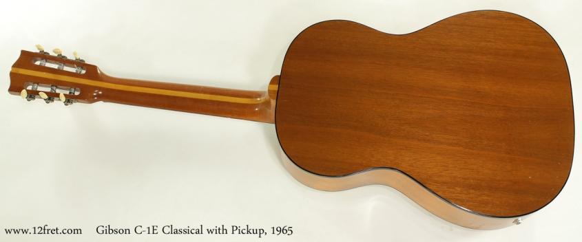 Gibson C-1E Classical 1965 full rear view