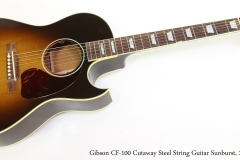 Gibson CF-100 Cutaway Steel String Guitar Sunburst, 2015  Full Front View