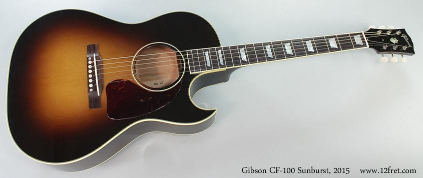 Gibson CF-100 Sunburst, 2015 Full Front View