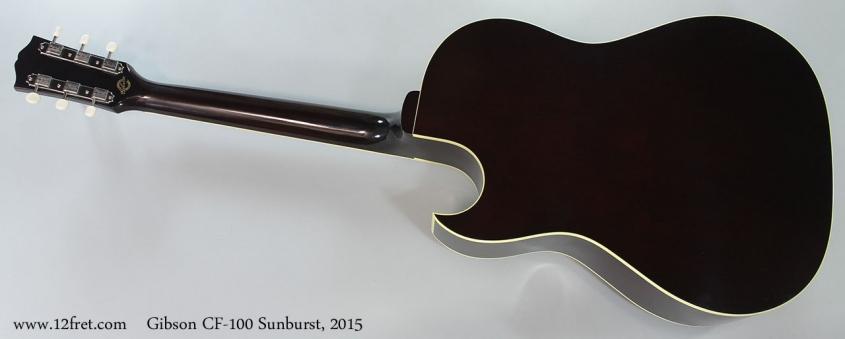 Gibson CF-100 Sunburst, 2015 Full Rear View