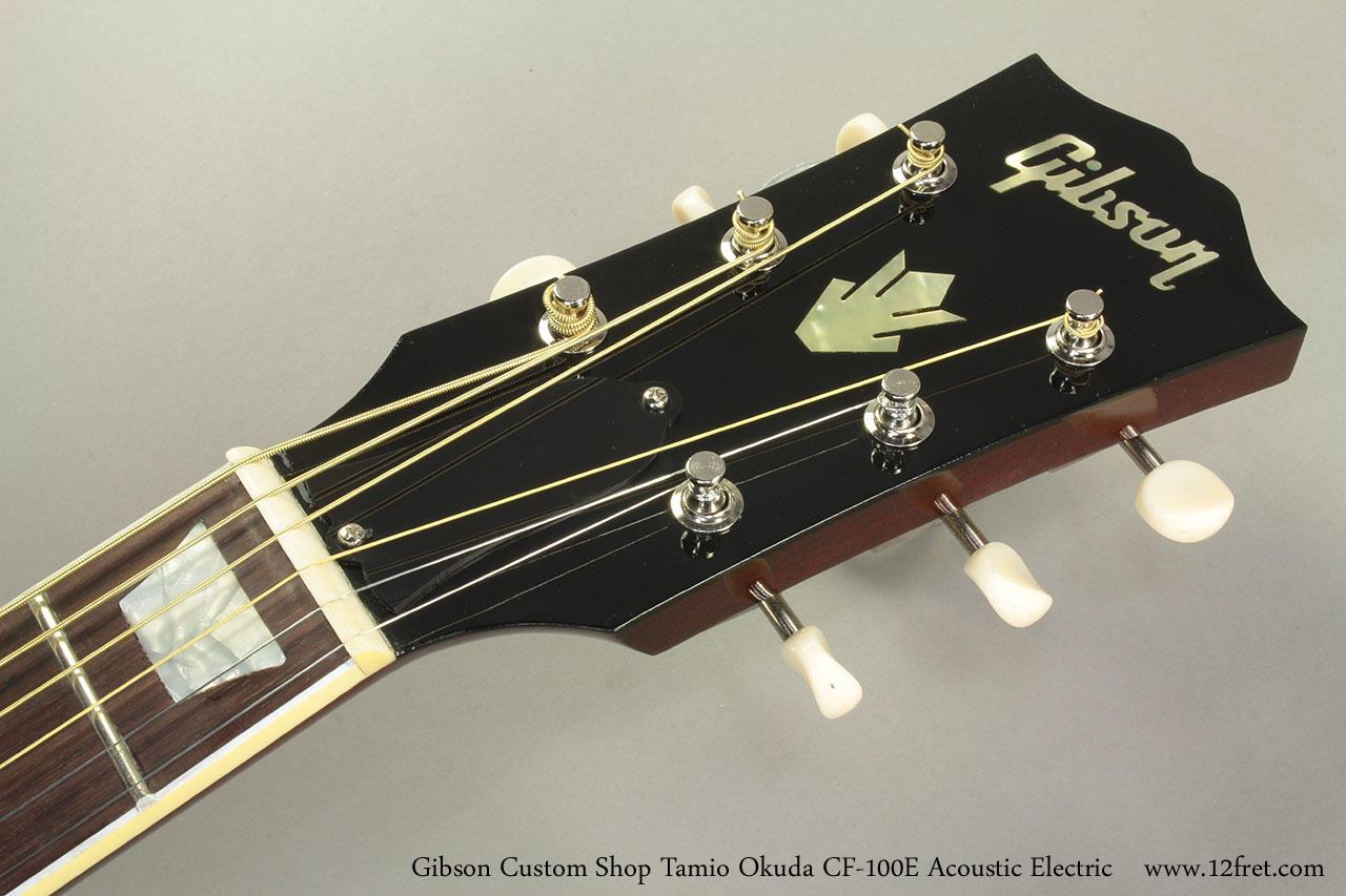 Gibson Custom Shop Tamio Okuda CF-100E Acoustic Electric Head Front
