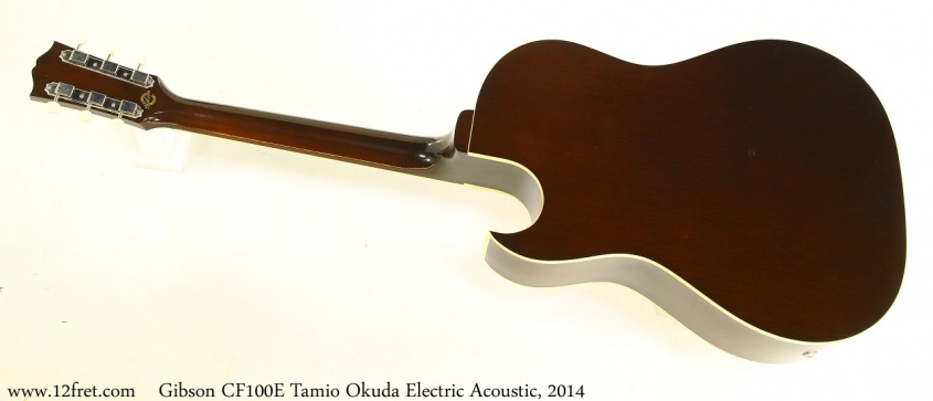 Gibson CF100E Tamio Okuda Electric Acoustic, 2014 Full Rear View