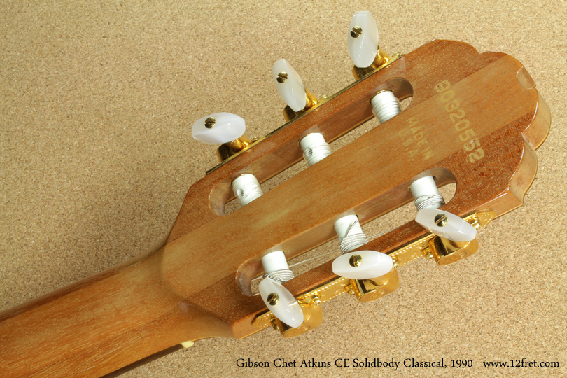Gibson Chet Atkins CE Solidbody Classical 1990 head rear