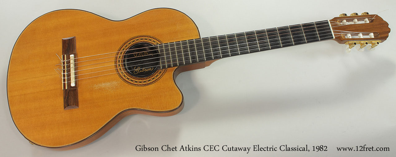 Gibson Chet Atkins CEC Cutaway Electric Classical, 1982 Full Front View