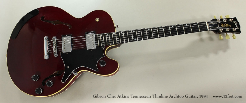 Gibson Chet Atkins Tennessean Thinline Archtop Guitar, 1994 Full Front View