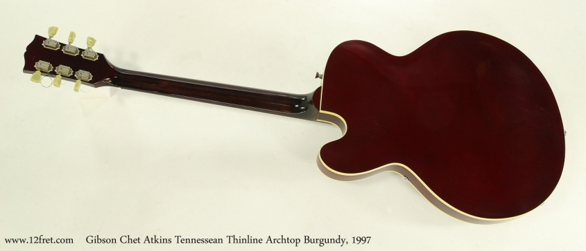 Gibson Chet Atkins Tennessean Thinline Archtop Burgundy, 1997 Full Rear View