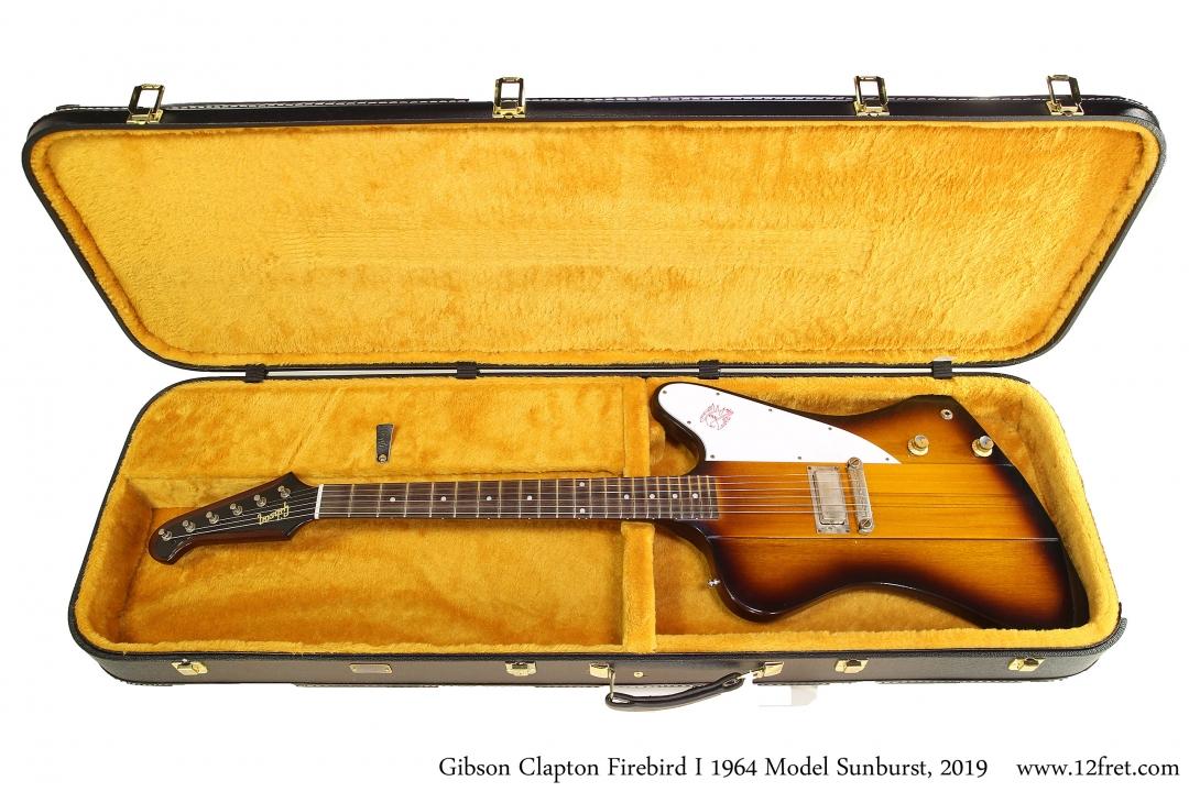 Gibson Clapton Firebird I 1964 Model Sunburst, 2019 Case Open View