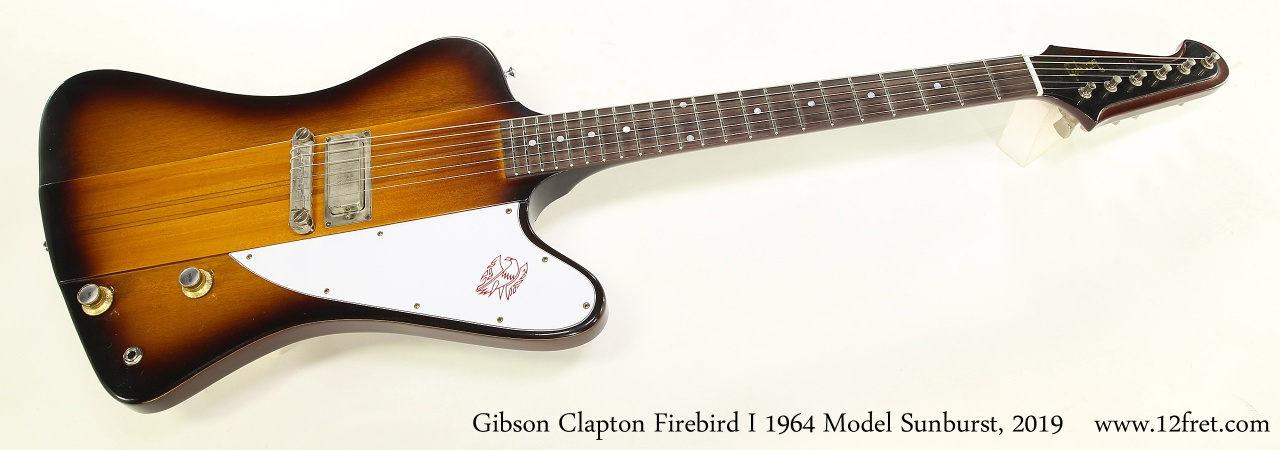 Gibson Clapton Firebird I 1964 Model Sunburst, 2019 Full Front View