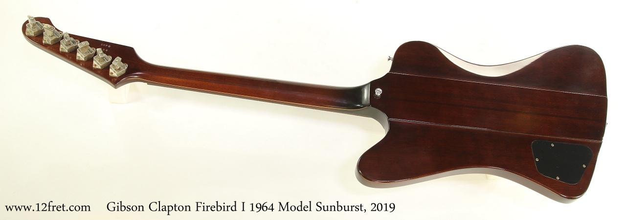 Gibson Clapton Firebird I 1964 Model Sunburst, 2019 Full Rear View