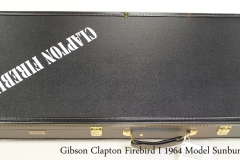 Gibson Clapton Firebird I 1964 Model Sunburst, 2019 Case Closed View