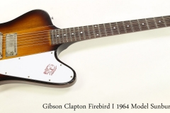 Gibson Clapton Firebird I 1964 Model Sunburst, 2019 Full Front View