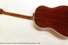 Gibson Country Western Model Steel String Guitar, 1957 Full Rear View