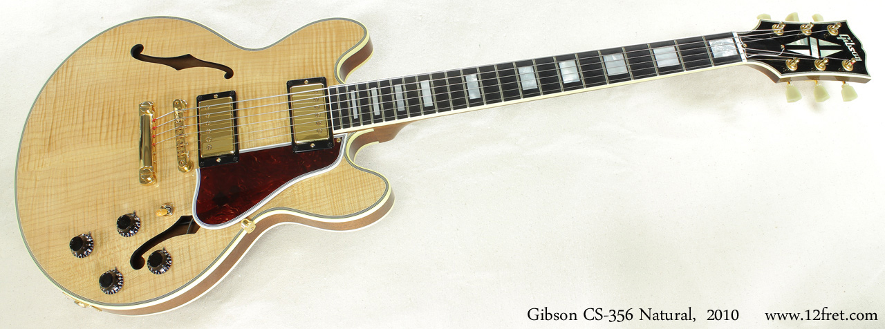 Gibson CS-356 Natural 2010 full front view