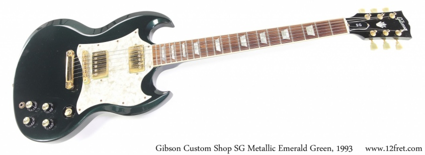 Gibson Custom Shop SG Metallic Emerald Green, 1993 Full Front View