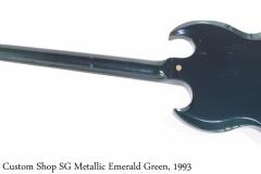 Gibson Custom Shop SG Metallic Emerald Green, 1993 Full Rear View
