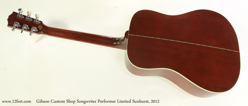 Gibson Custom Shop Songwriter Performer Limited Sunburst, 2012  Full Rear View