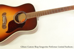 Gibson Custom Shop Songwriter Performer Limited Sunburst, 2012  Full Front VIew