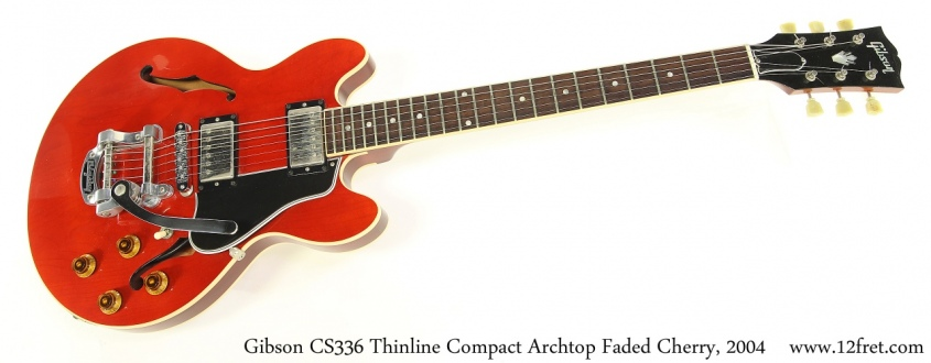 Gibson CS336 Thinline Compact Archtop Faded Cherry, 2004 Full Front View
