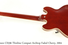 Gibson CS336 Thinline Compact Archtop Faded Cherry, 2004 Full Rear View