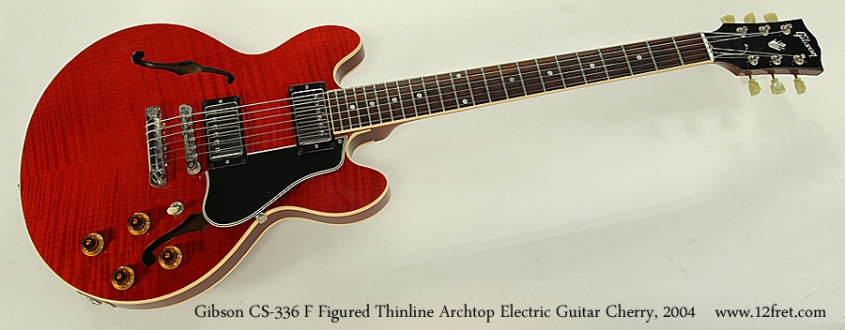 Gibson CS-336 F Figured Thinline Archtop Electric Guitar Cherry, 2004 Full Front View