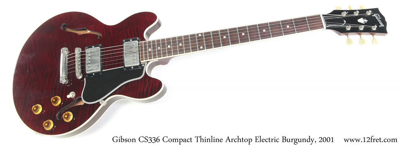 Gibson CS336 Compact Thinline Archtop Electric Burgundy, 2001 Full Front View