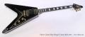 Gibson Custom Shop Flying V Custom Black 2014 Full Front View