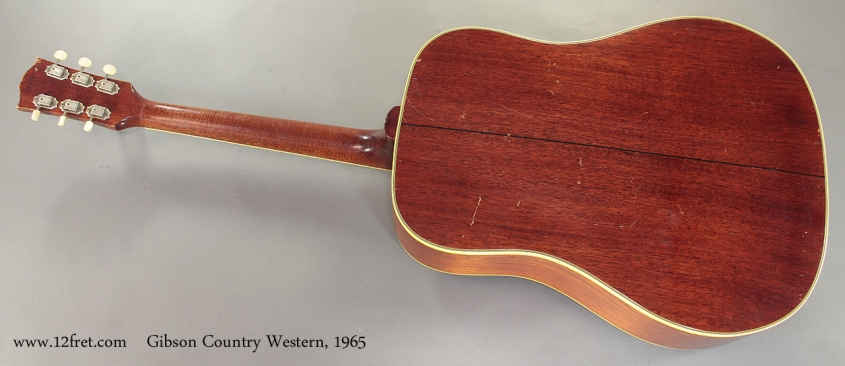 Gibson Country Western 1965 full rear view