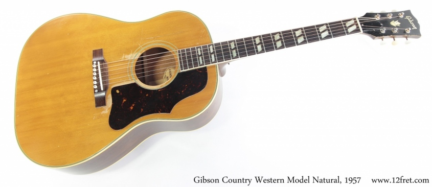 Gibson Country Western Model Slope Shoulder Dreadnought Natural, 1957 Full Front View