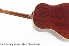 Gibson Country Western Model Slope Shoulder Dreadnought Natural, 1957 Full Rear View