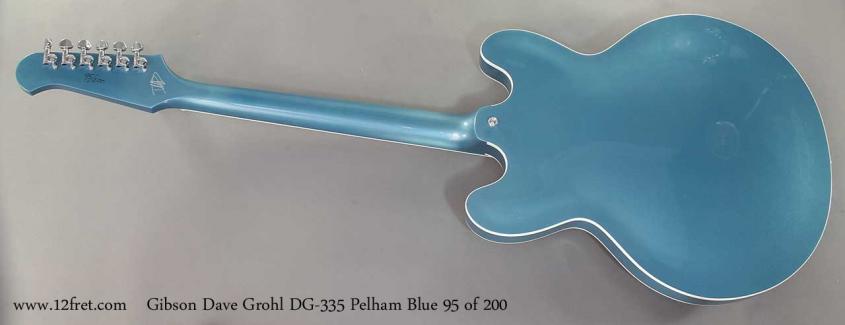 Gibson Dave Grohl DG-335 Pelham Blue full rear view