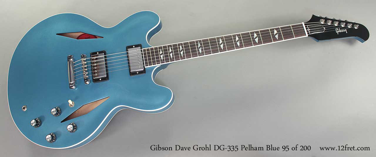 Gibson Dave Grohl DG-335 Pelham Blue full front view