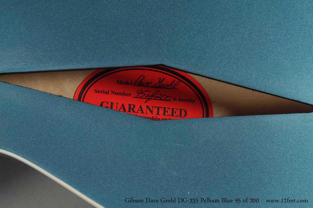 Gibson Dave Grohl DG-335 Pelham Blue label