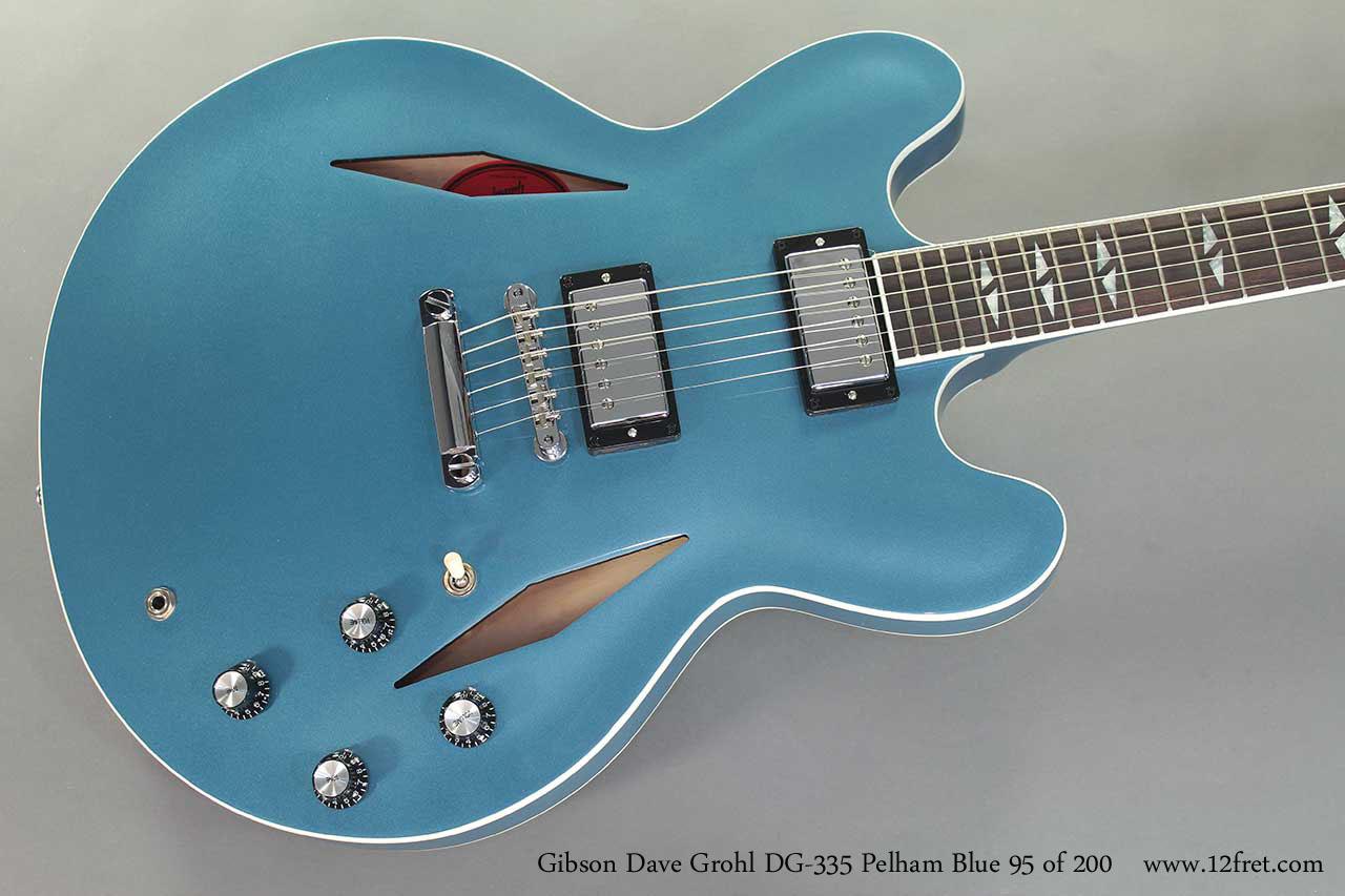Gibson Dave Grohl DG-335 Pelham Blue top