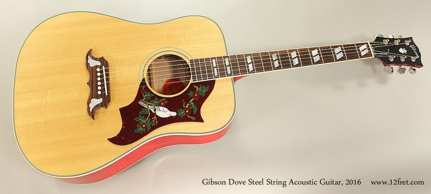 Gibson Dove Steel String Acoustic Guitar, 2016 Full Front View