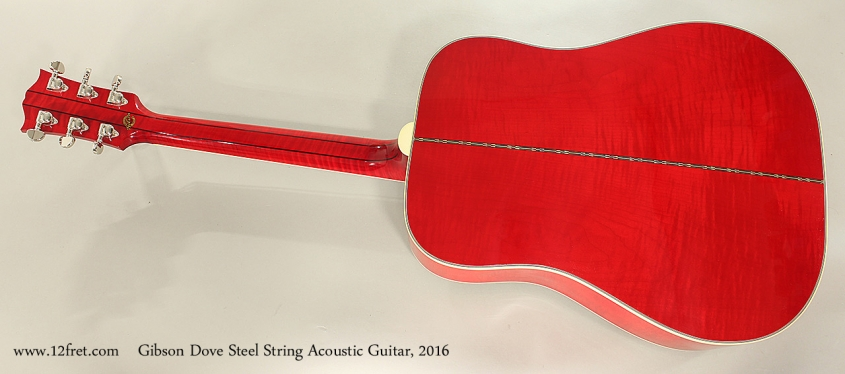 Gibson Dove Steel String Acoustic Guitar, 2016 Full Rear View