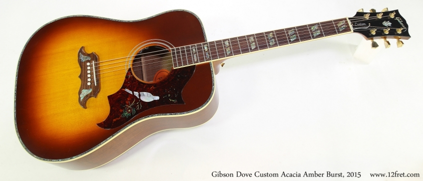 Gibson Dove Custom Acacia Amber Burst, 2015  Full Front View