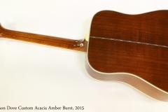 Gibson Dove Custom Acacia Amber Burst, 2015  Full Rear View