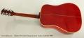 Gibson Dove Steel String Acoustic Guitar, Sunburst 1969 Full Rear View